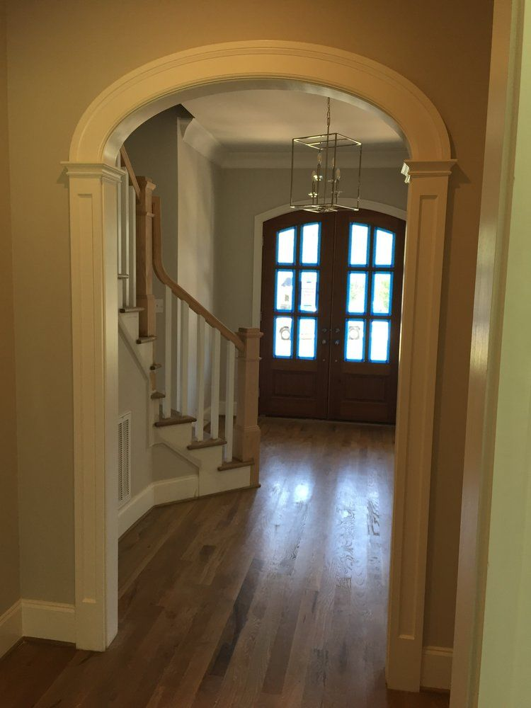 Farmhouse Style Arched Door Opening In Foyer Nbsp Panel Column
