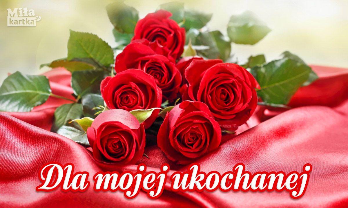 Milosc Walentynki Kartka Internetowa Dla Mojej Ukochanej Pobierz Wirtualne Pocztowki Lub Wyslij Je Do Niej W Jede Romantic Love Messages Love Gif Flowers