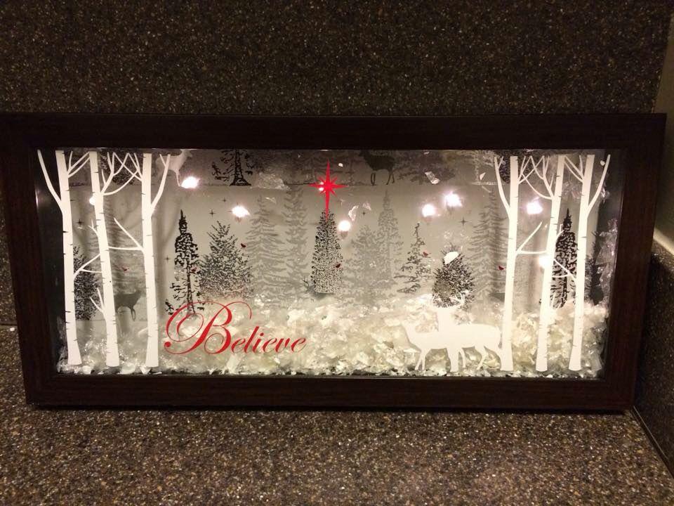 Christmas Shadow Box Cameo Creations Pinterest