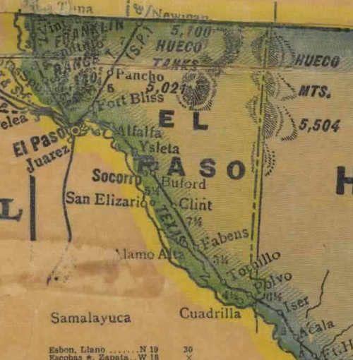 El Paso County TX 1940 Map | El Paso | Pinterest | El paso, El paso ...