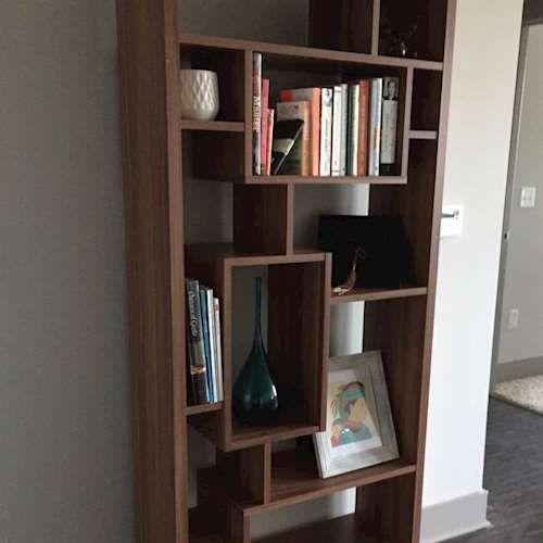 Modern Assymetric Book Cas Online Furniture Shelves Second