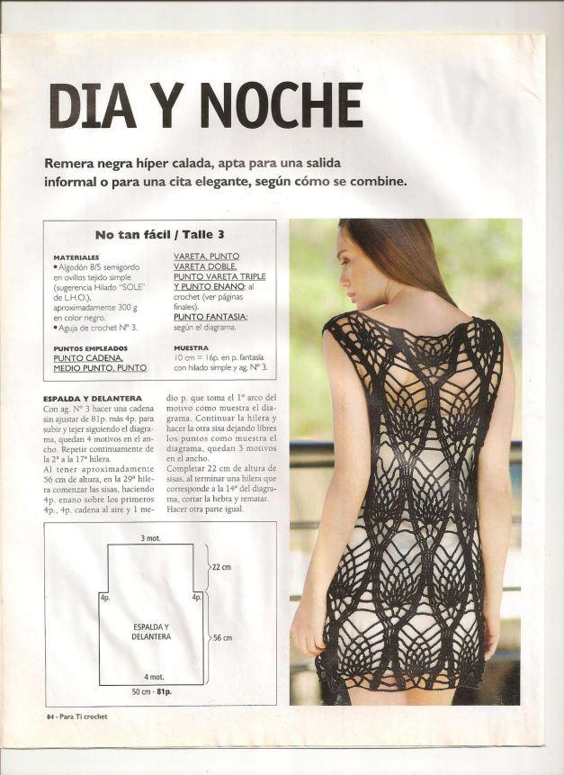 Crochet.es.un.arte!: Dia y Noche. | Crochet ~ Tunics | Pinterest ...