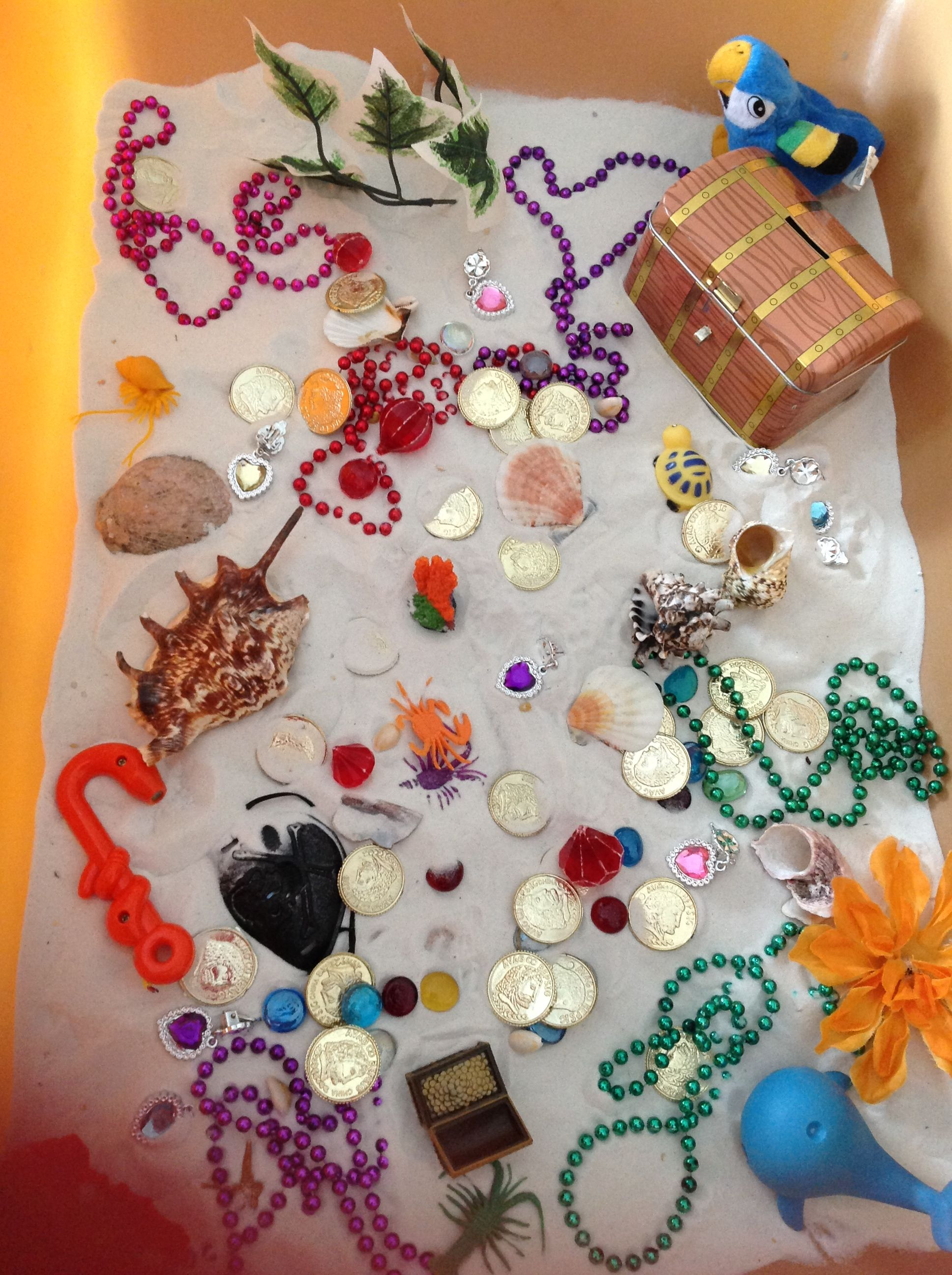 Pirate Themed Sensory Tub With Images