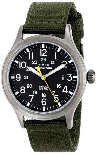 f79d57a00b09 Timex Men s T49961 Expedition Scout Green Nylon Strap Watch - http   www. Relojes  TimexRelojes De PulseraExploradoresBandasVerde