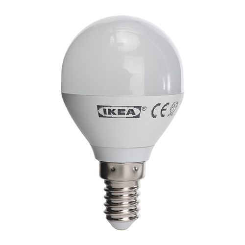 LEDARE LED bulb E14 IKEA The LED light source consumes up to 85% less energy and lasts 20 times longer than incandescent bulbs. € 5.00A+ Product fiche Article Number : 902.552.90