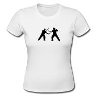 T-Shirts ~ Frauen Girlieshirt ~ Eskrima | Doppelstock