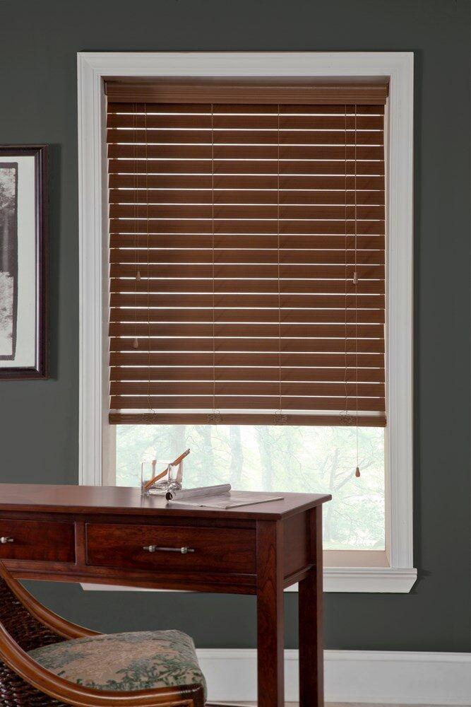 Veneta Classic 2 1 2 In Faux Wood Blind Custom In 2019 Faux Wood Blinds White Wood Blinds Wood Curtain