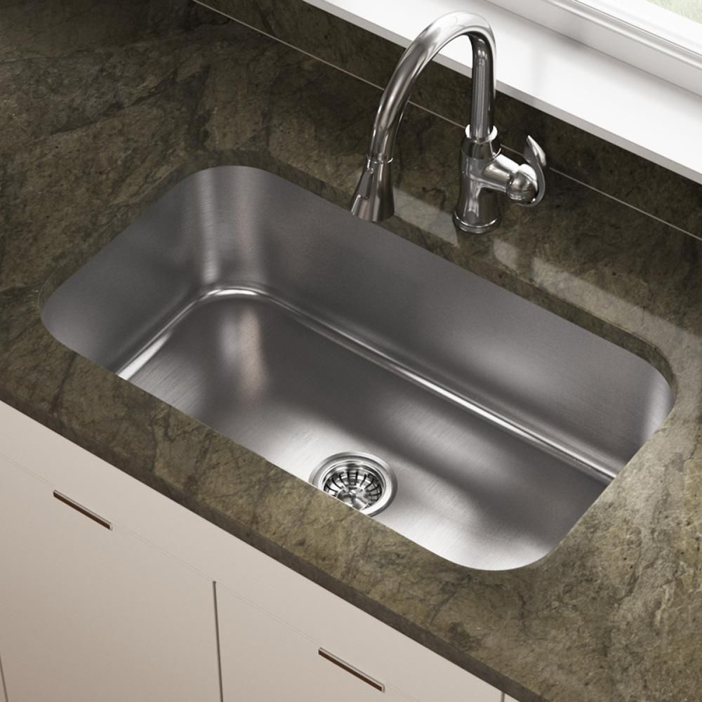 Mr Direct Undermount Stainless Steel 32 In Single Bowl Kitchen Sink Brushed Satin In 2020 Sink Small Kitchen Sink Stainless Steel Sinks