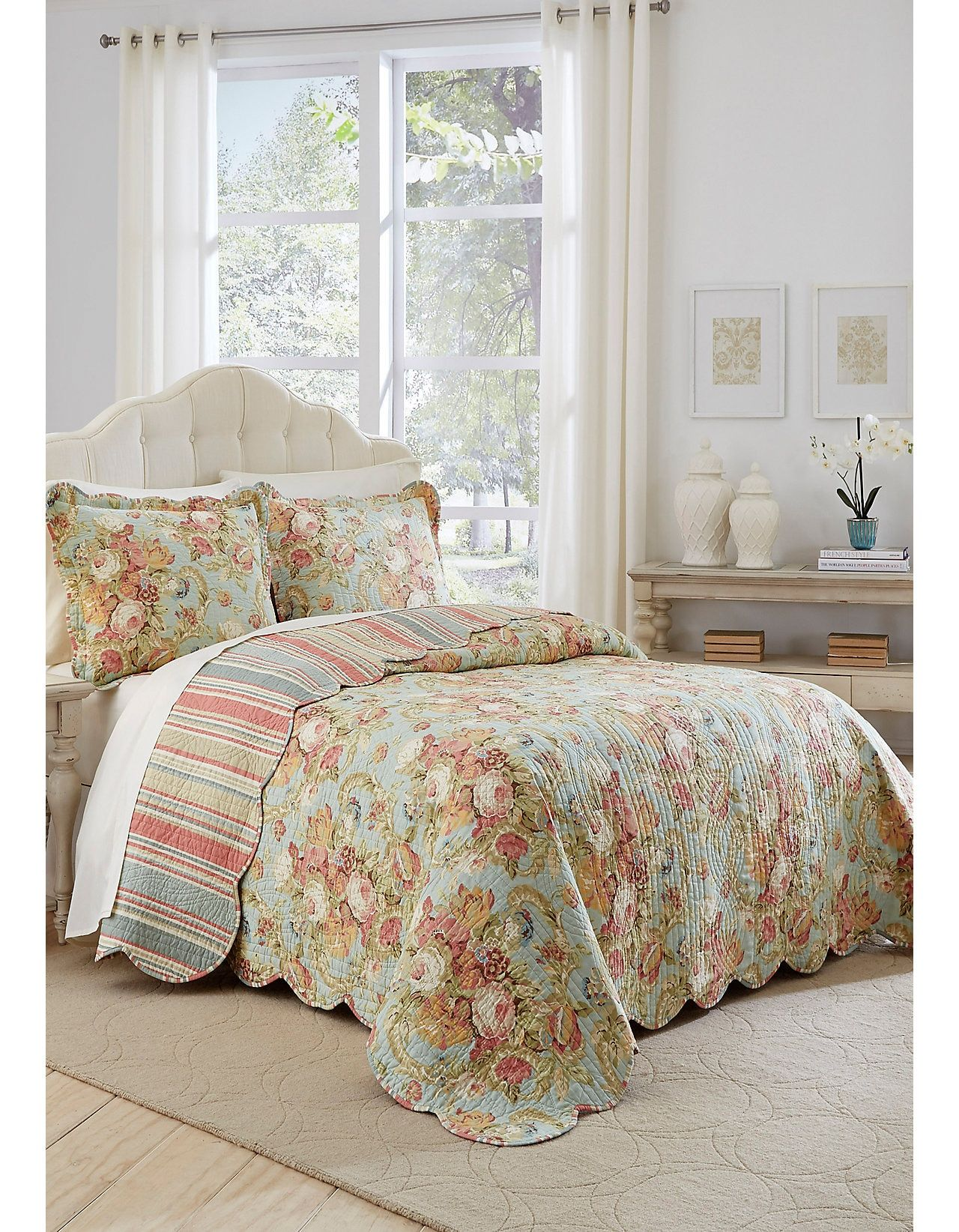 Waverly Spring Bling King 3 Piece Bedspread Set Bed Spreads