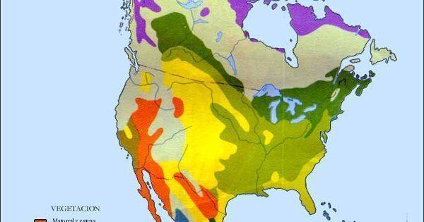 Vegetation Map for North America for httpshandbookingtechblog