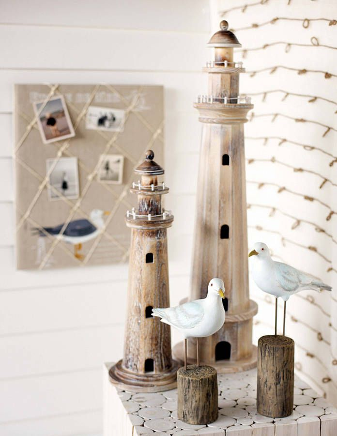 Decorative Wooden Lighthouse With