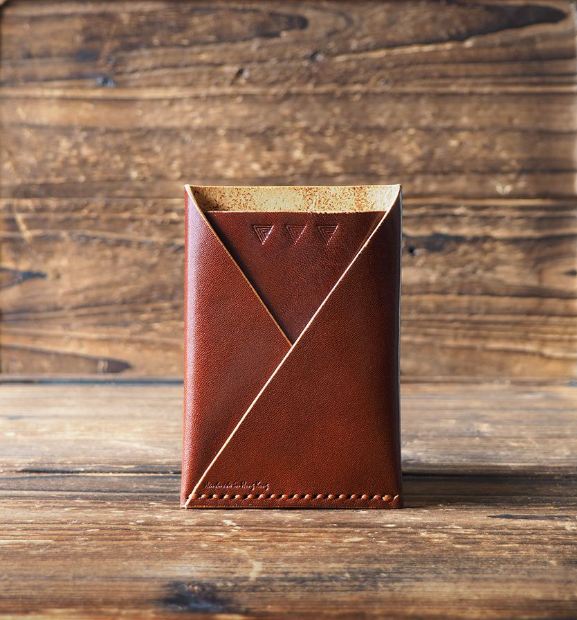 Leather Card Wallet - Handmade Card Holder, Business card wallet ...