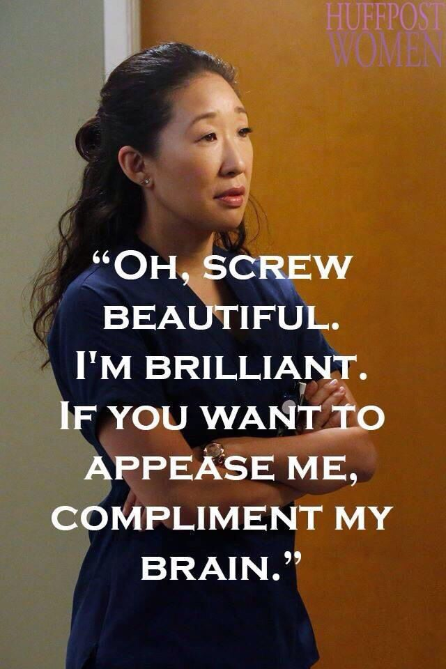 I don\'t know about brilliant but I identify with Christina so much ...