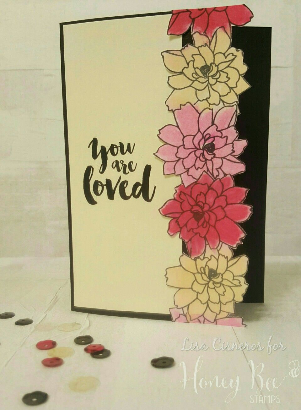 You are loved card created using Honey Bee Stamps
