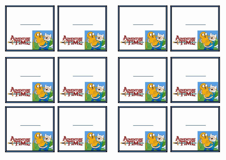 Free Printable Adventure Time Themed Name Tags Name Tags