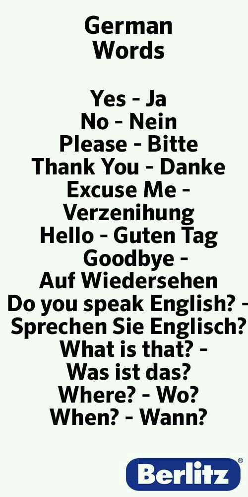 Image result for important phrases and words german to