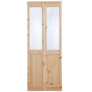 4 Panel Knotty Pine Glazed Internal Bi Fold Door H 2040mm W 826mm Bathroom Interior Design Knotty Pine Doors Door Sets