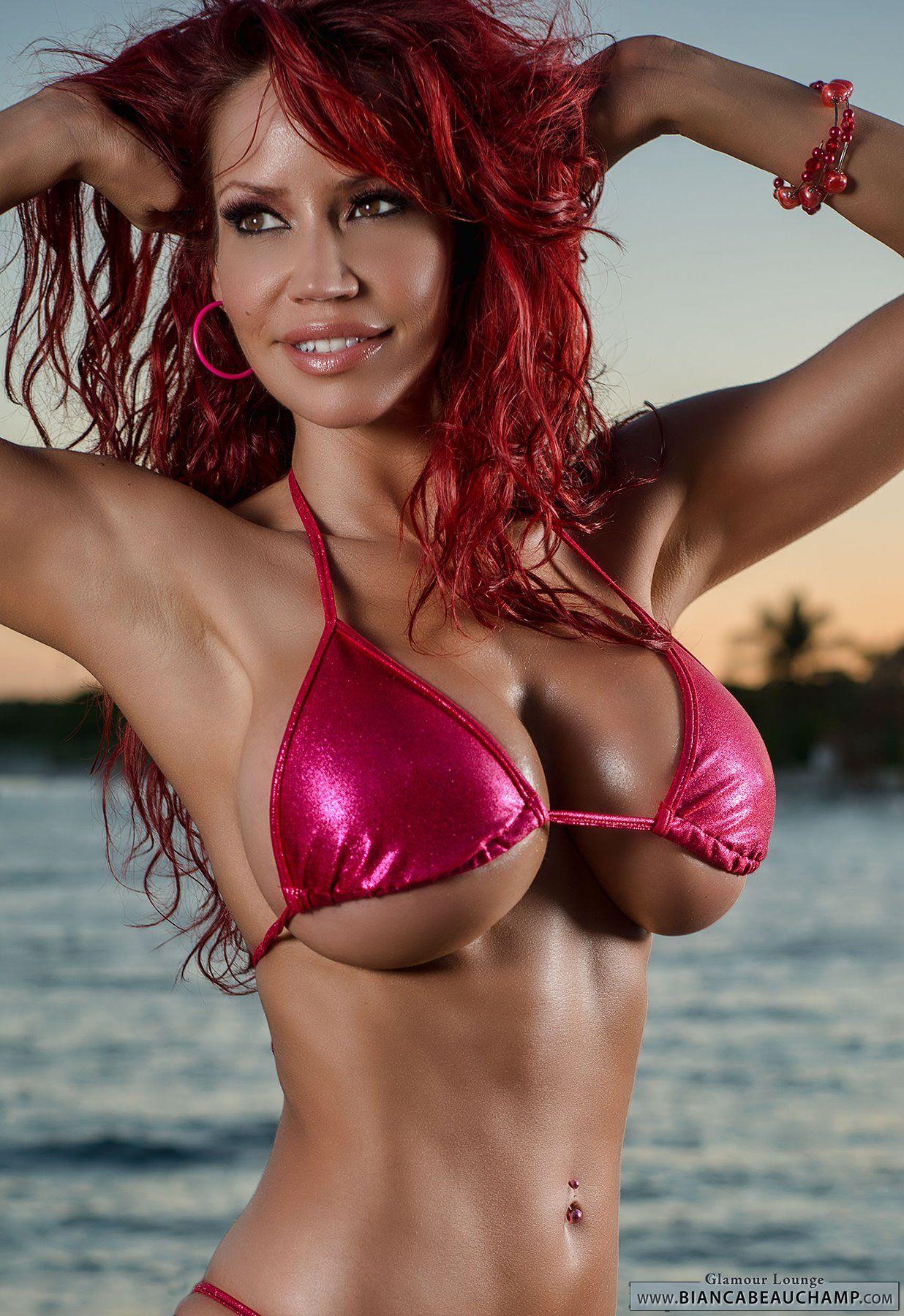 Bianca beauchamp black bikini