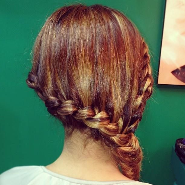 two side braids into a fishtail