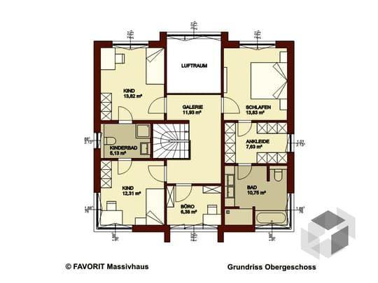 Massivhaus stadtvilla grundriss  Citylife 178 von Favorit Massivhaus | Stadtvilla | Walmdach ...