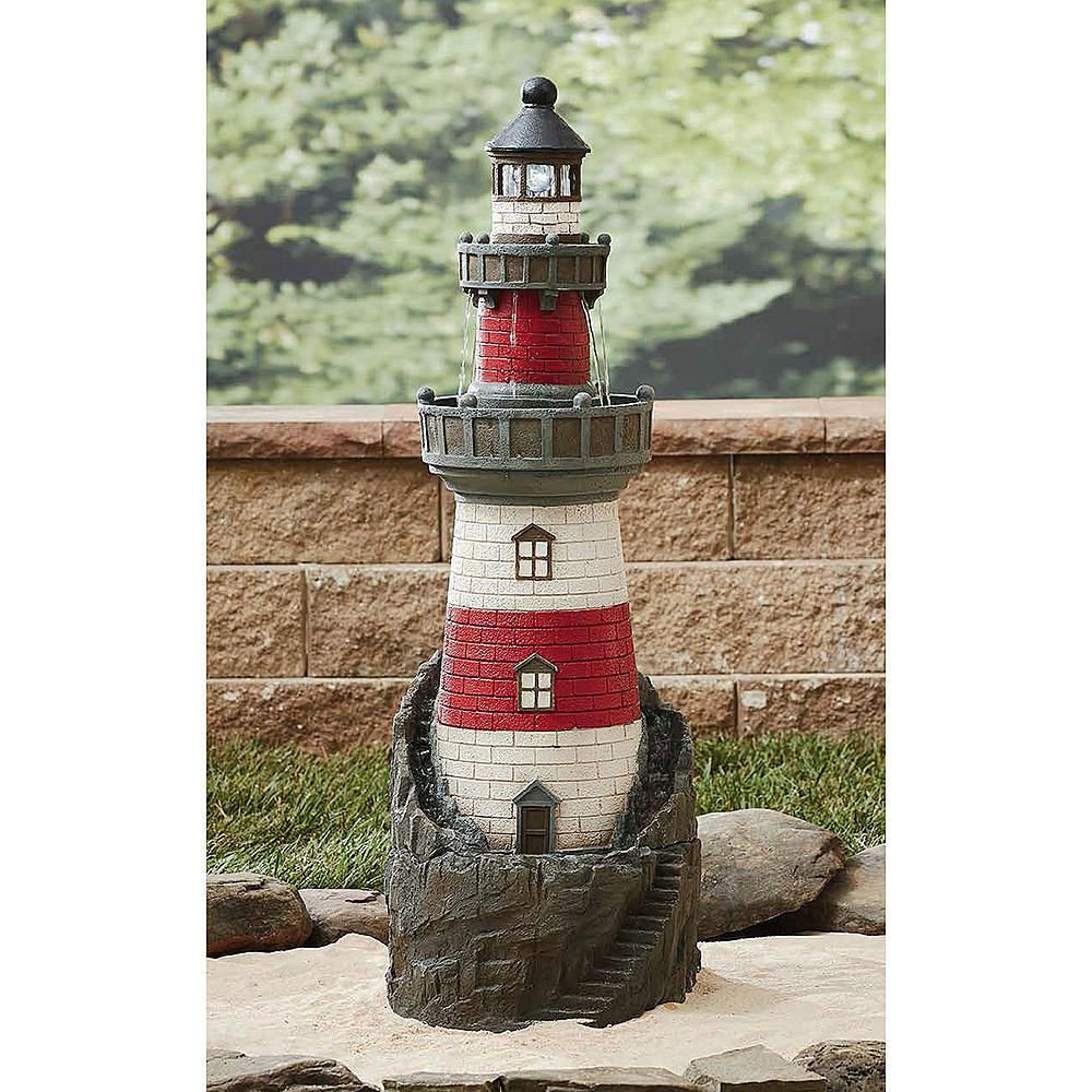 Lighthouse Fountain For The Garden Lawn And Decor Statues