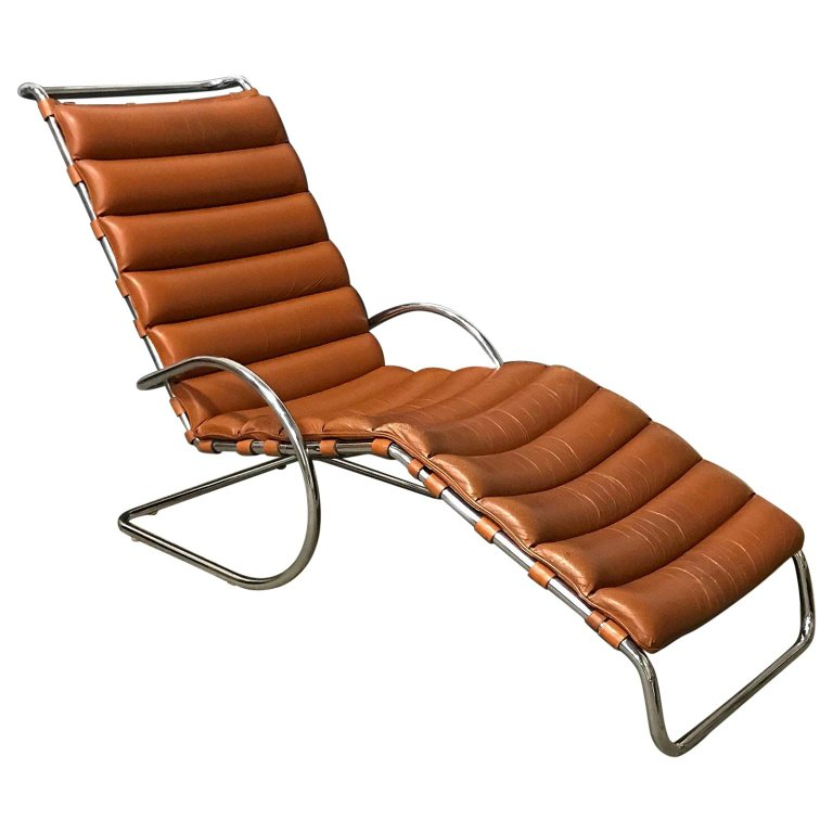 1965 Ludwig Mies Van Der Rohe Rare Early Production Adjustable Chaise Longue In 2020 Ludwig Mies Van Der Rohe Mies Van Der Rohe Van Der Rohe