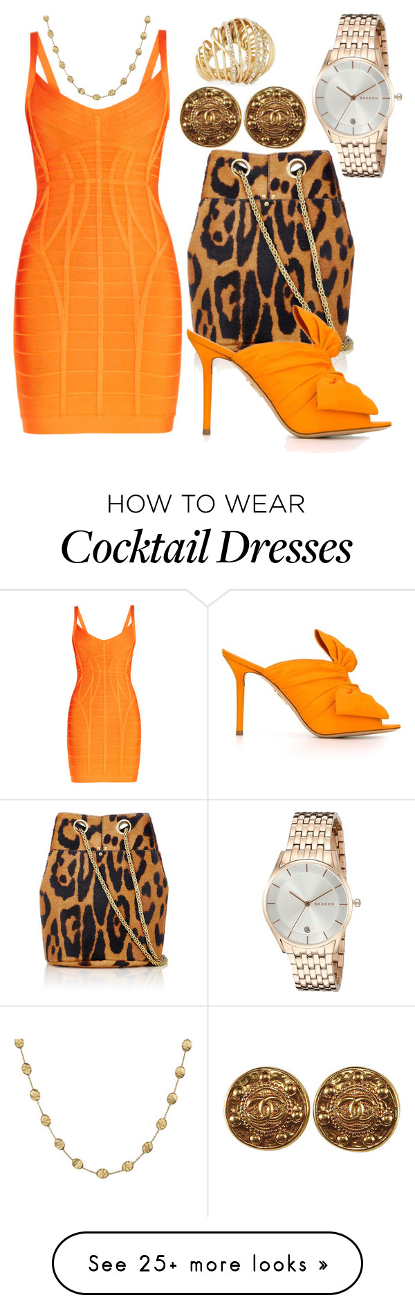 """Mind Your Business, Then Your Manners"" by chelsofly on Polyvore featuring Marco Bicego, Jérôme Dreyfuss, Hervé Léger, Charlotte Olympia, Alexis Bittar, Skagen and cocktaillooks"