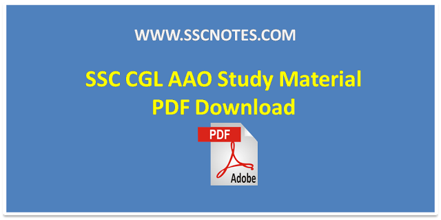 STUDY MATERIAL FOR SSC CGL PDF DOWNLOAD