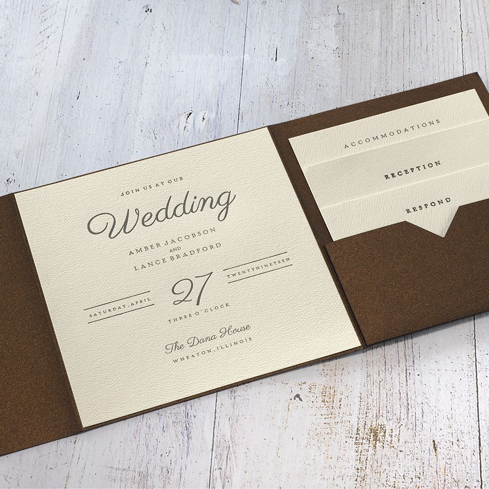 Modern Sophistication Pocket Invitation With Images Trendy Wedding Invitations Pocket Invitation Invitations By Dawn