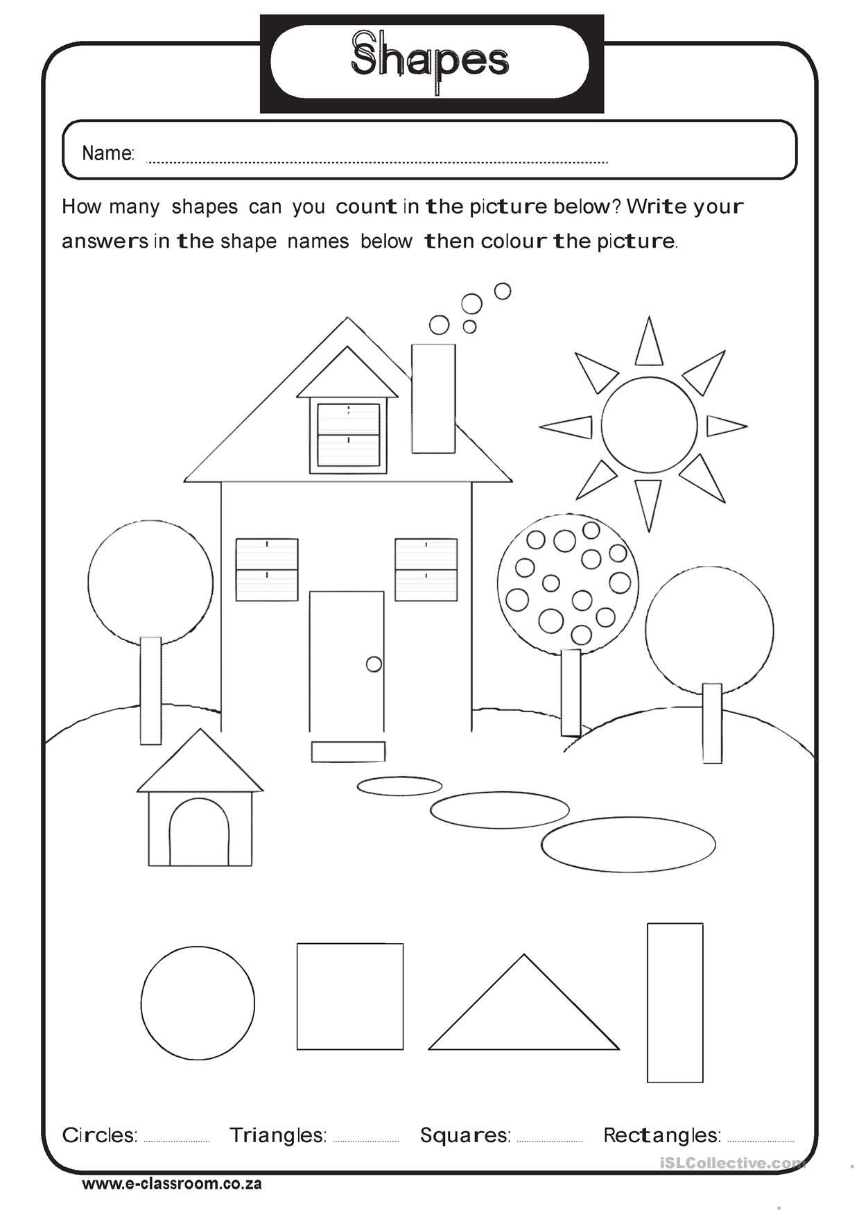 Oneclick print document English worksheets for kids