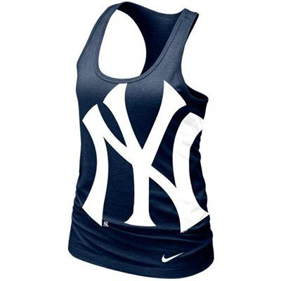 b3fe2812 Nike New York Yankees Ladies Cotton Tank Top - Navy Blue | Outfits I ...