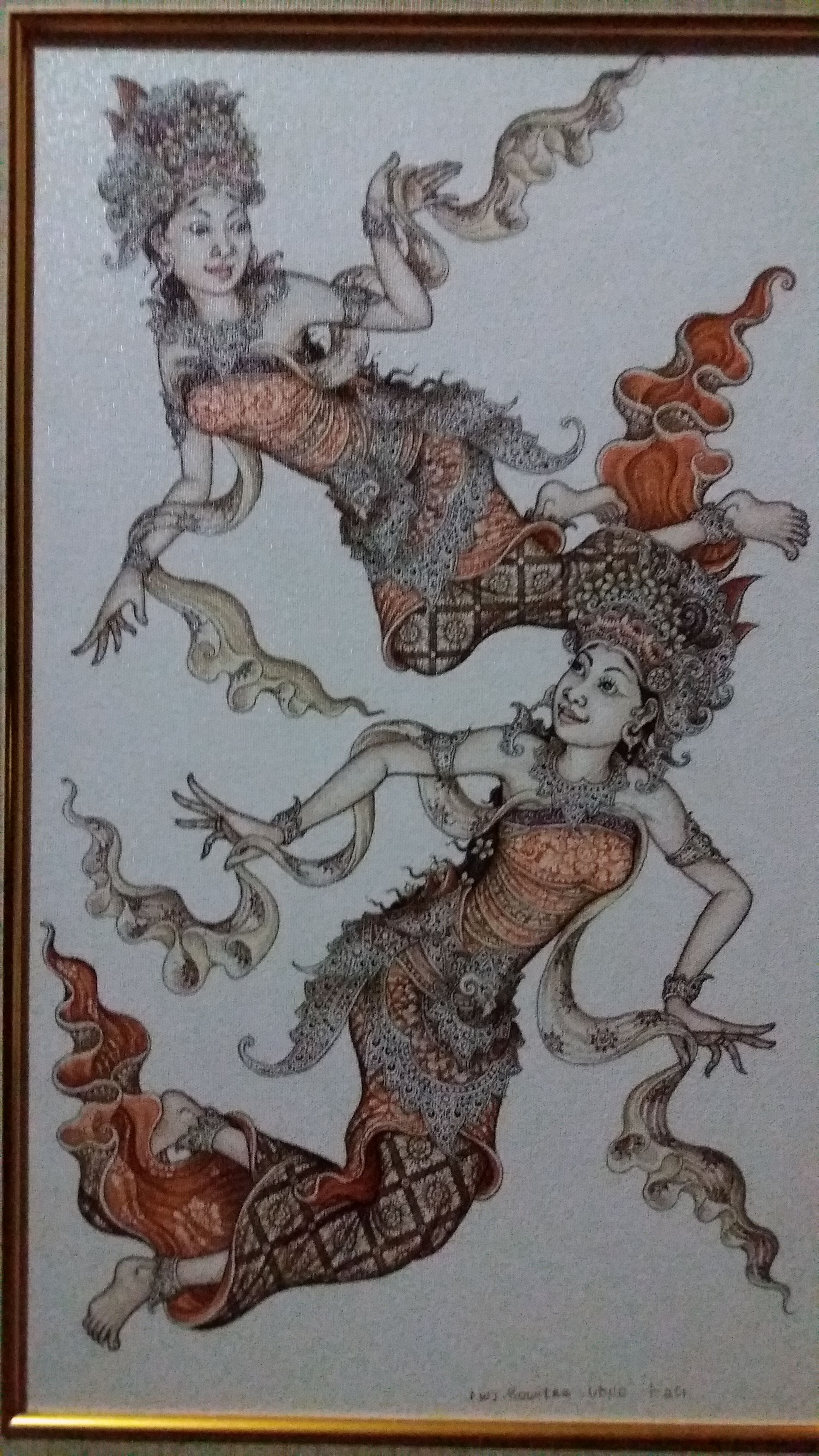 My father's balinese traditional painting. Finish!