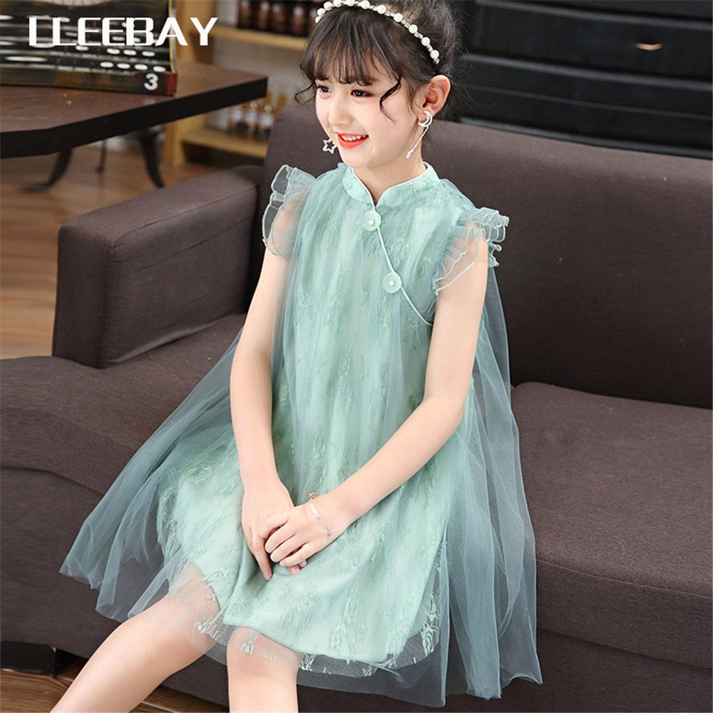 Chinese Style Vintage Cheongsam Qipao Dresses Baby Clothes Kids Girls Cute Dress