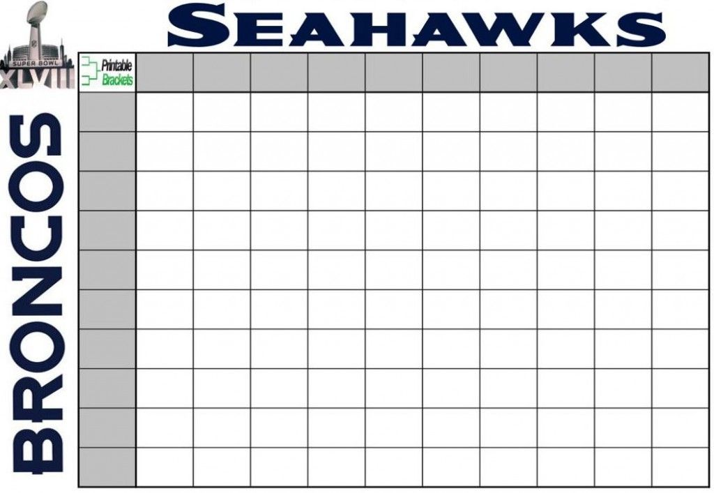 2014 football pool squares   Super Bowl Party Games   Super Bowl Squares and Props
