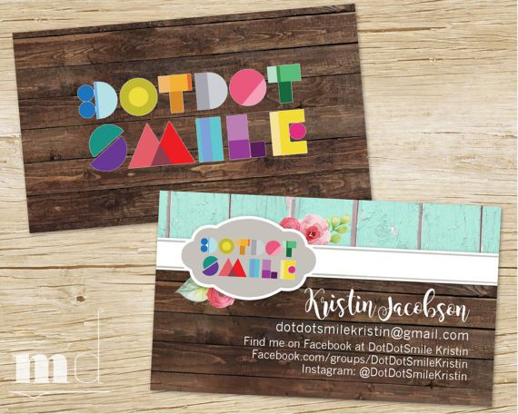 Custom DotDotSmile Rustic Wood Business Cards, Personalized small - personalized invoices