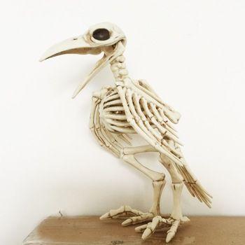 crazy bone skeleton raven plastic animal skeleton bones horror halloween decoration halloween prop bird crow skeleton - Raven Halloween Decorations