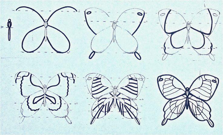S rie tape par tape papillon petits coeurs petites art 5683 comment dessiner dessine moi - Dessine un papillon ...