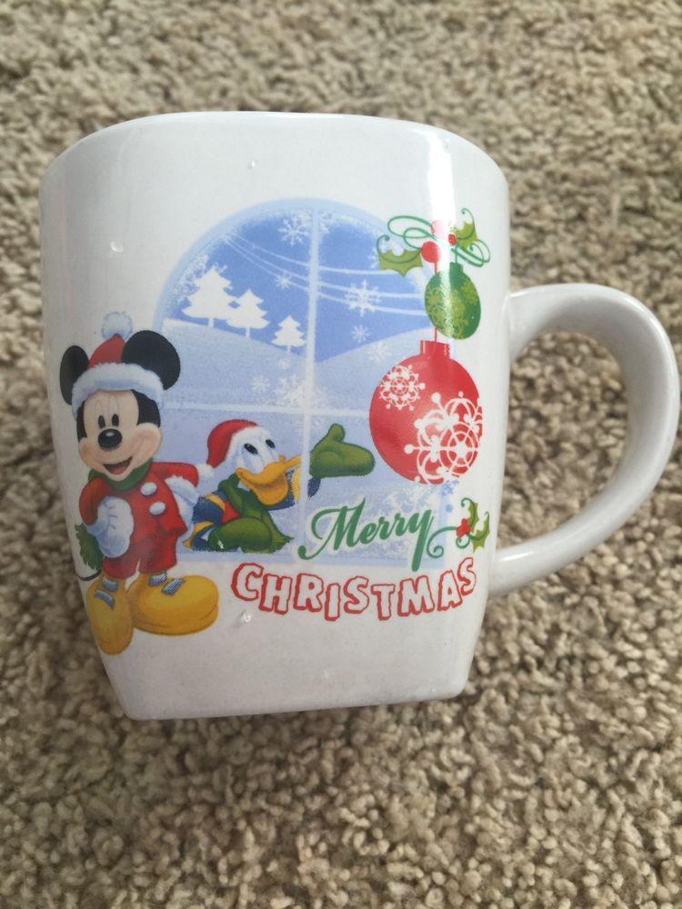 Mickey Mouse And Donald Duck Merry Christmas Coffee/ Tea Mug Disney