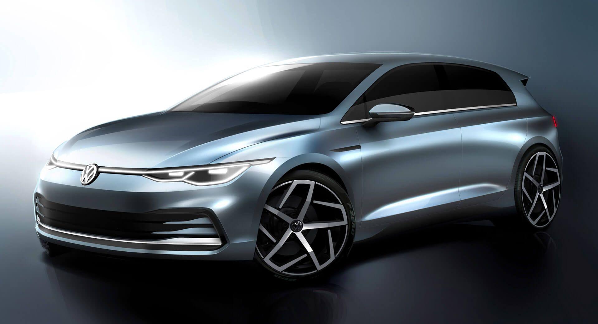 2020 Vw Golf Mk8 Official Sketches Optimistically Tease What We Ve Already Seen Featured Newcars Phev Tech Vw Volkswagen Golf Volkswagen Motor De Partida