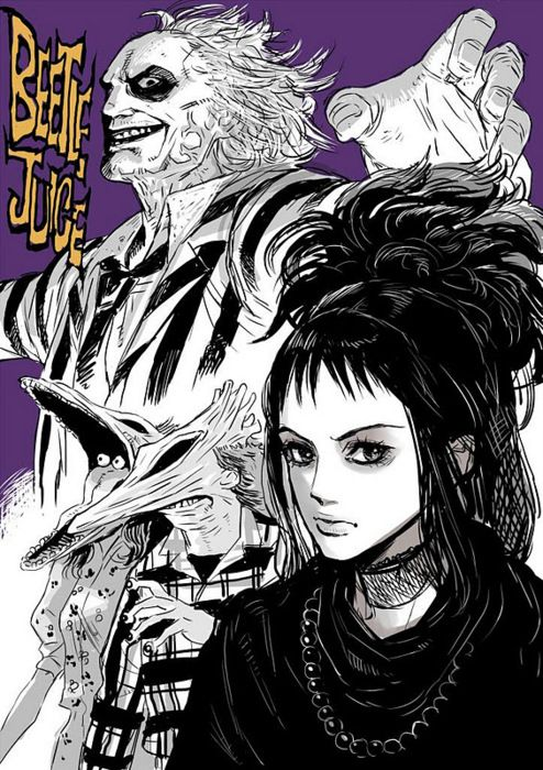Beetlejuice Tim Burton Artwork Tim Burton Art Tim Burton