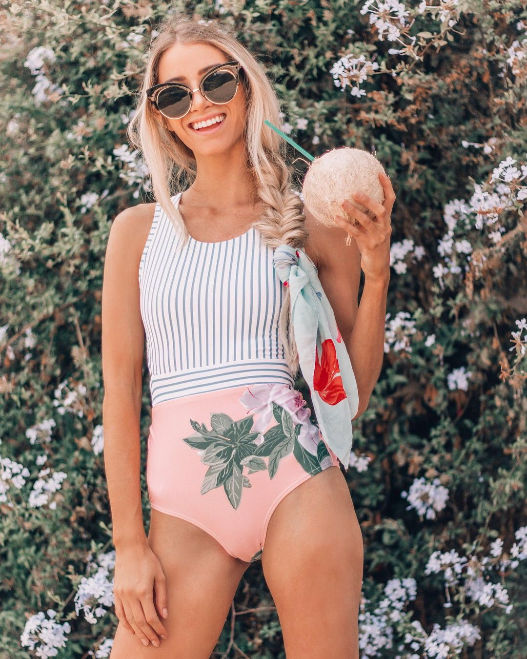 a11c9c92472 SHOP THIS ONE PIECE! A sister suit to our best selling, Castaway one piece,  the Island Fever One Piece Swimsuit combines a classic nautical stripe top  with ...