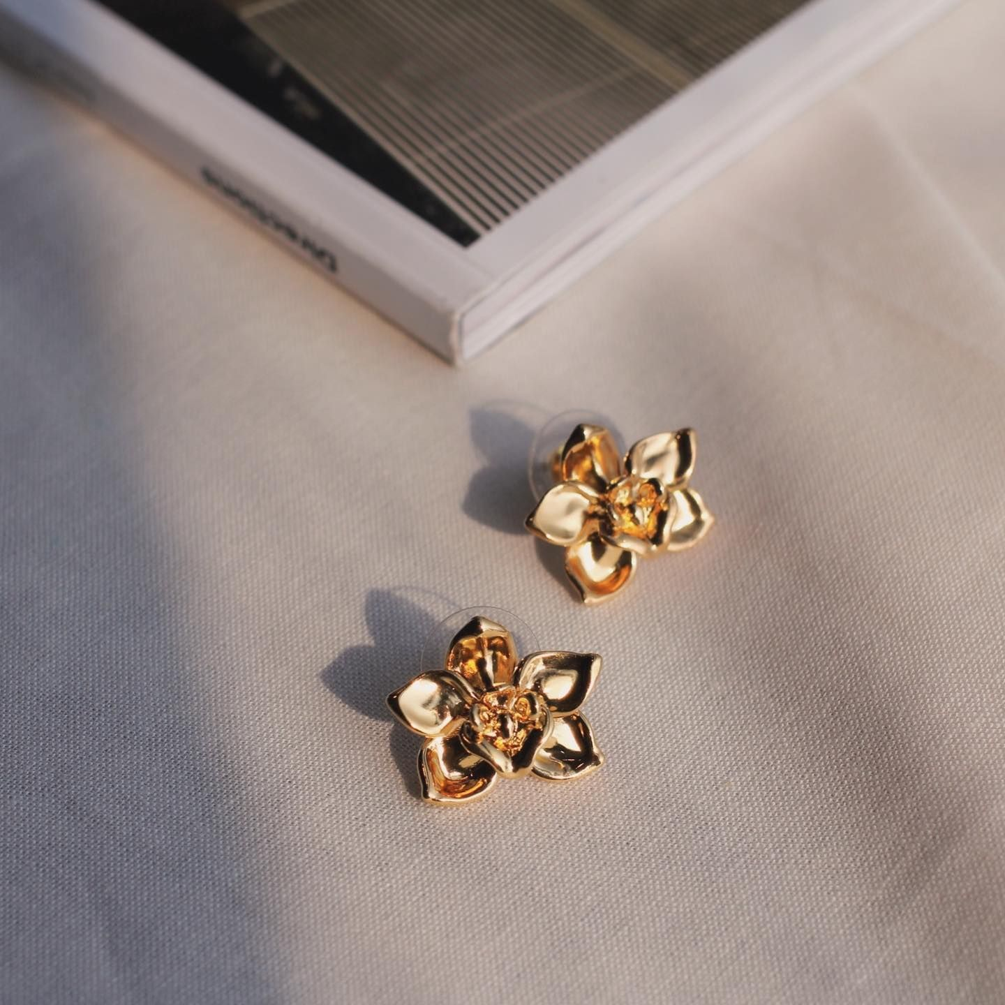Well Our Idea Of Taking A Day Off From Jewellery Is Wearing These Tiny Cymbidium Orchid Studs Risissg Myri In 2020 Fashion Earrings Floral Jewellery Earrings