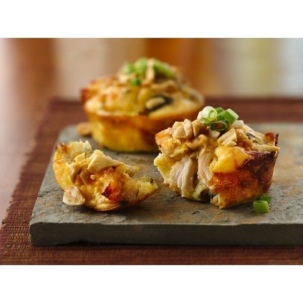 Impossibly Easy Mini Thai Chicken Pies ❤ liked on Polyvore featuring food