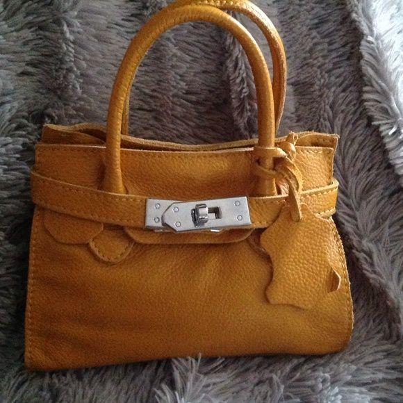 1017be4bd3 Leather mini mini birkin style bag Real leather birkin looks mini bag,it is  small but it holds a wallet , phone lipsticks e.t.c. Cute. Bags Mini Bags