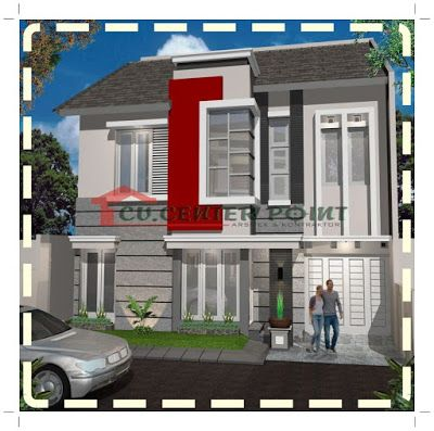 jasa gambar rumah di surabaya - rumah minimalis modern