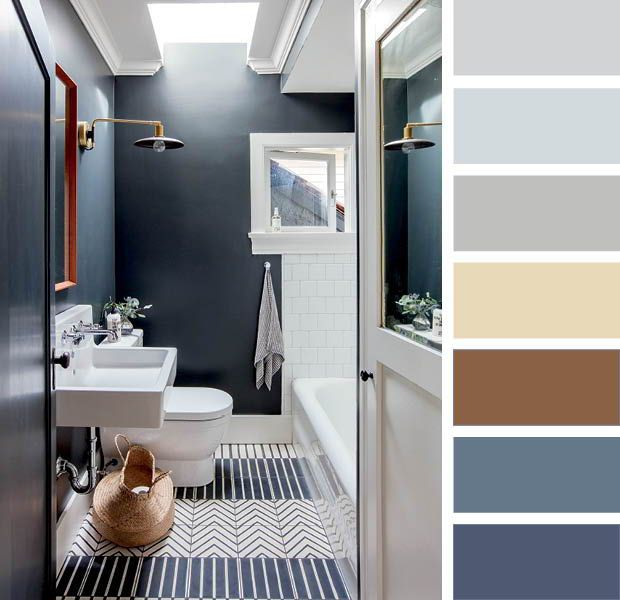 15 Designer Color Combinations To Help You Find Your Perfect Palette Bathroom Color Palette Small Bathroom Bathroom Color