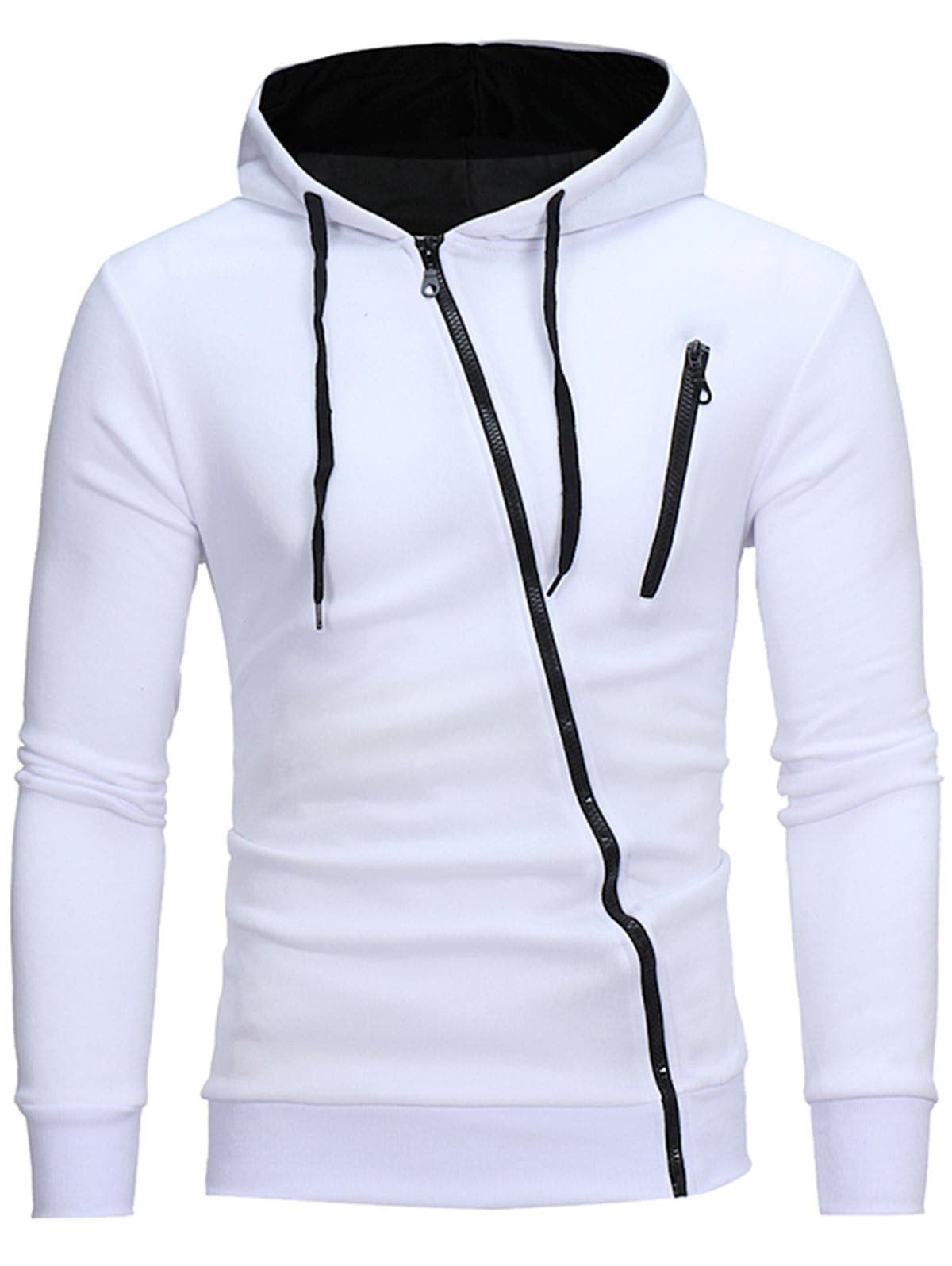 Men's Clothing Brand 2018 Hoodie Oblique Zipper Solid Color Hoodies Men Fashion Tracksuit Male Sweatshirt Hoody Mens Purpose Tour Xxxl With The Most Up-To-Date Equipment And Techniques