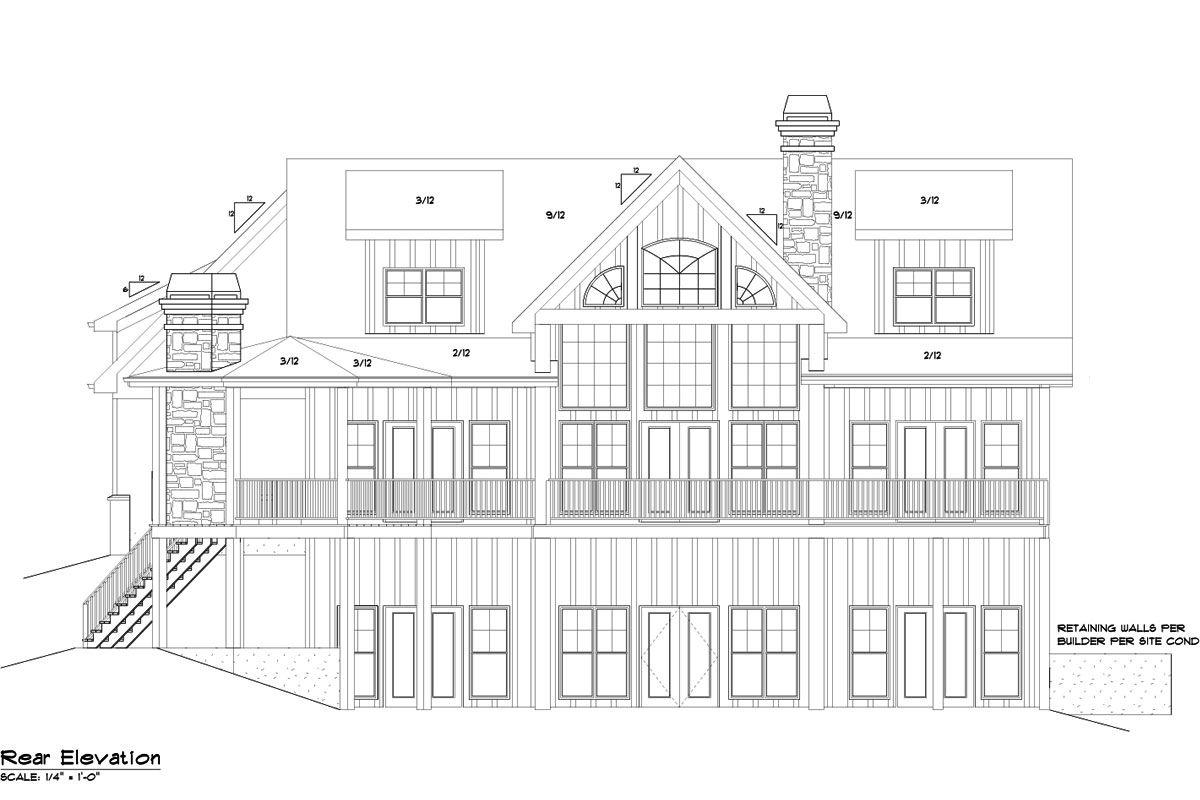 3 Car Garage Lake House Plan - Lake Home Designs | Car garage, Lake ...