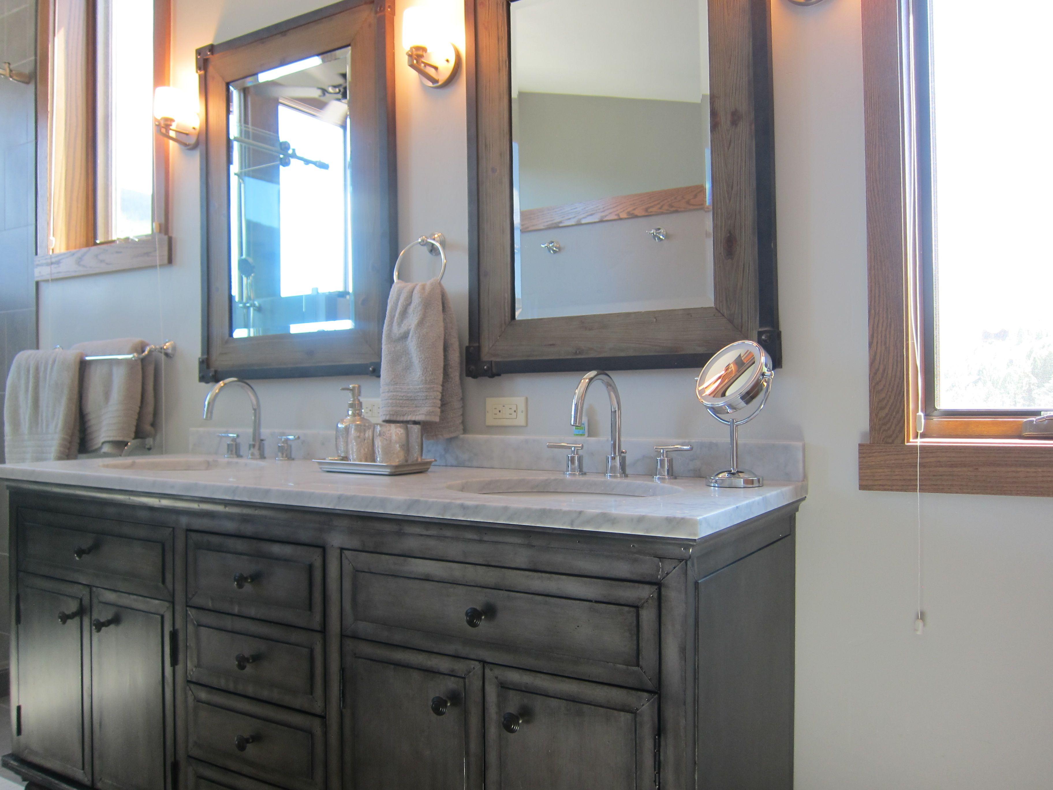 zinc vanity from restoration hardware shades of gray. Black Bedroom Furniture Sets. Home Design Ideas