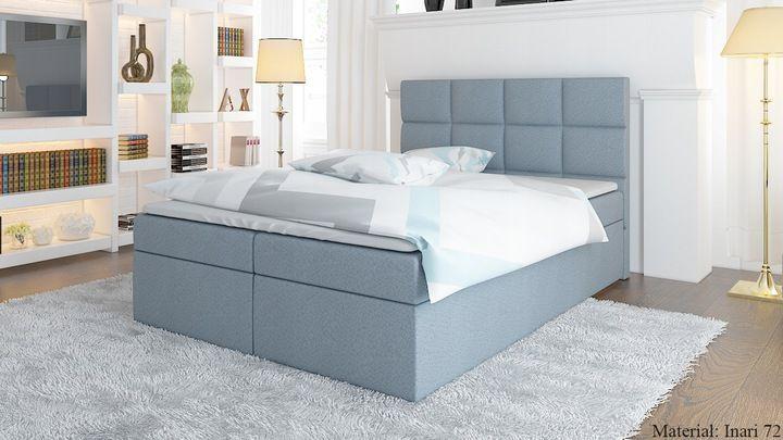 łóżko Werona Kontynentalne 160 Pojemnik Materac Bedroom
